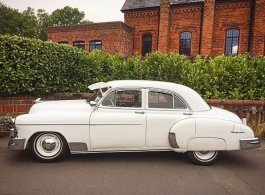 White Chevrolet for weddings in Sutton